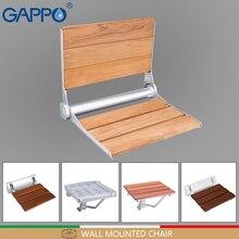 GAPPO настенный Сиденье для душа складной сиденье стула деревянный стул для Ванной сиденье стульчик для ванны и душа душ Складное Сиденье