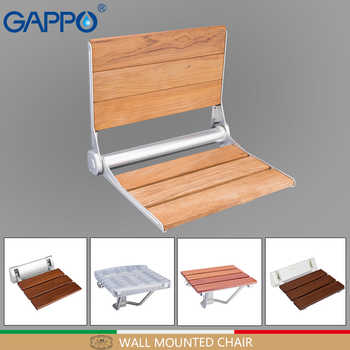 GAPPO wall mounted shower seats folding chair seat wooden bathroom chair seat bath shower chair shower folding seat - DISCOUNT ITEM  51 OFF Home Improvement