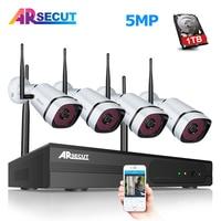ARSECUT Wireless NVR Kit 5.0MP HD H.265 Plug And Play CCTV Security Camera System Waterproof 1944P WIFI Video Surveillance Kit