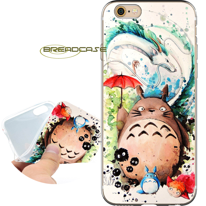Fundas Watercolor Totoro Soft Clear TPU Silicone Phone Case for iPhone X 8 7 6S 6 Plus 5S SE 5 5C 4S 4 Case iPod Touch 6 5 Cover