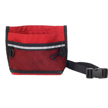 DHDL-Durable Pet Dog Treat Bait Waist Pouch Puppy Reward Based Training Bag with Buckle Belt -Red