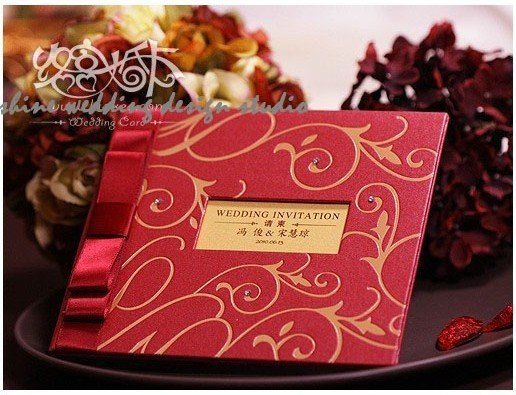 Embossed Card For Wedding Invitations: Classic Attractive Wedding Invitation Card 20012. Wedding