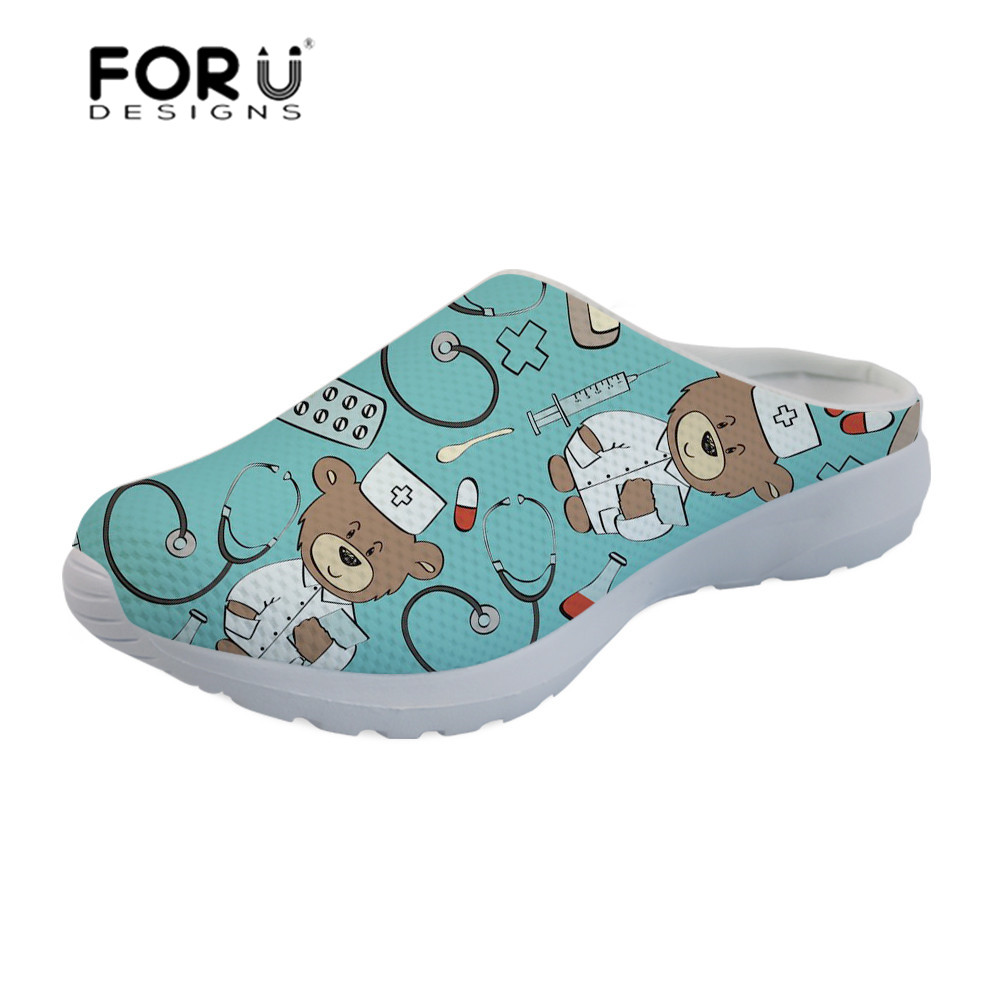 Women's Shoes Collection Here Forudesigns Womens Sandals Flats Ladies Shoes Border Collie Printing Lightweight Mesh Slipper Female Platform Sandalias Mujer