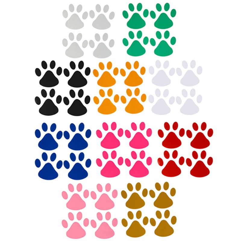 4pcs/sheet Fashion  Design Paw Car Sticker Animal Dog Cat Footprint Decal Car Stickers
