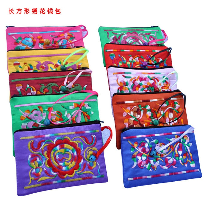 Unique Embroidery Zipper Jewelry Packaging Gift Bags With Bells Chinese Style Coin Purse Satin Bracelet Necklace Storage Pouches In