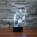 3D LED Luz de La Noche de Crear Dibujos Animados Darth BB-8 Halcón Milenario Vader Acrílico 7 Oscurecimiento del Color Niños Bebé Dormitorio lámpara de Mesa USB lámpara