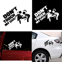 3D Car Sticker Lady DON  T TOUCH MY CAR! Vinyl Whole Body Styling Decoration Motorcycle