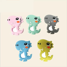 Silicone Teether Food Grade Dinosaur Rattle Baby Teething Pendant DIY Pacifier Clipt Accessories Cute Baby Nursing(China)