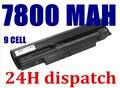 7800 mah 9 celdas de batería portátil para samsung n150 n143 n145 n148 n250 n260 n230 n218 n220 n350
