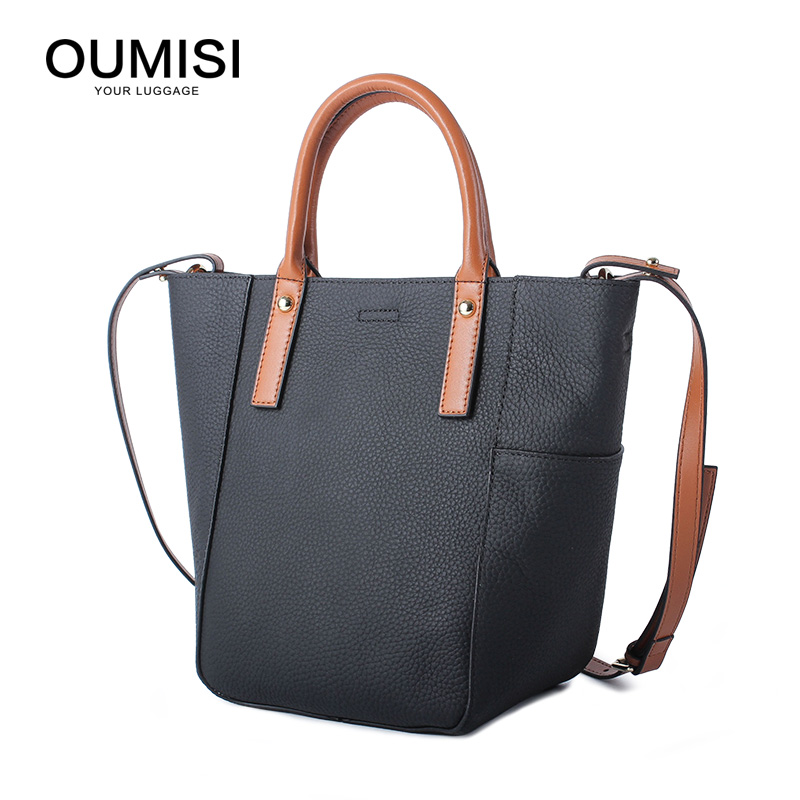 OUMISI brand design Genuine Leather bag women handbag Large Luxury Hobo Messenger Shoulder bag big Tote