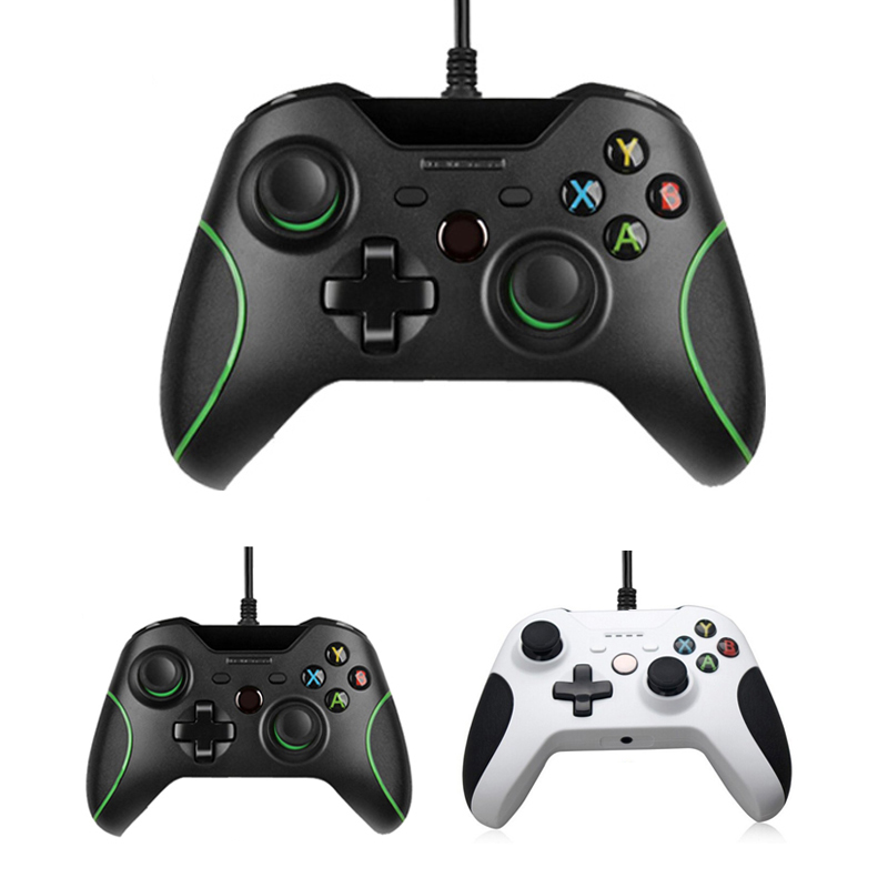 USB Wired Controller For Xbox One Slim Video Game JoyStick Mando For Microsoft Xbox One S Gamepad Controle Joypad For Windows PC gamepad usb wired joypad controller for microsoft for xbox slim 360 for pc for windows7 black color joystick game controller