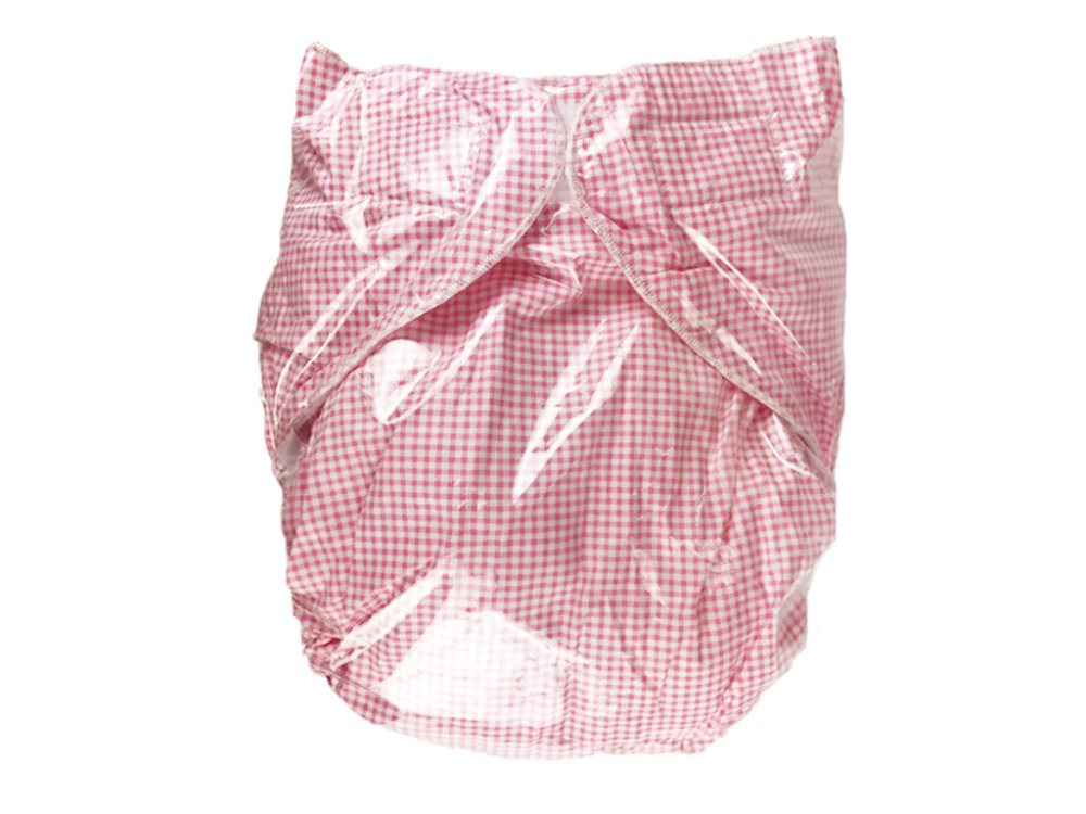 Haian ABDLAdult Incontinence AIO PVC Diapers S-M, Baby Pink