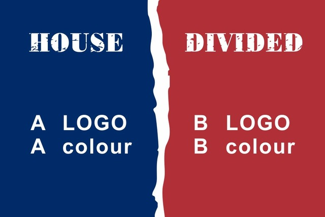 any sport logo vs any colour 90x150cm custom house divided helmet banner  flag 512e102a6