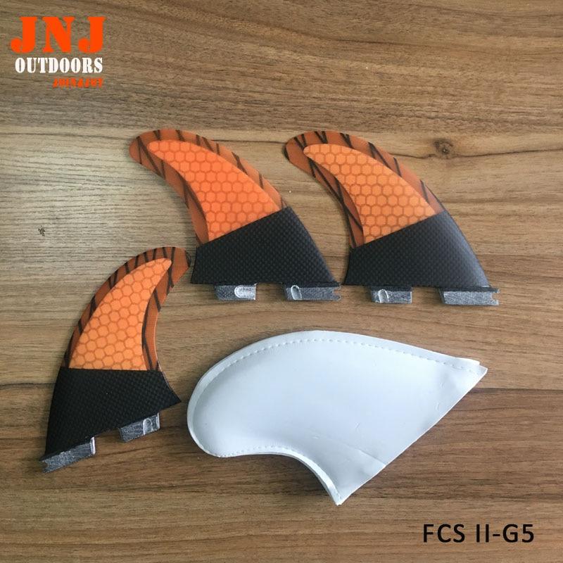 Moitié en fiber de carbone standard planche de surf FCS II G5 M ailettes composé de carbone et nid d'abeille