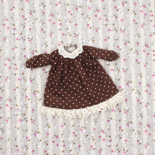 Neo Blythe Doll Polka Dot Dress Lace