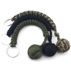 Image 4 - Outdoor Multicolor Security ปกป้องกำปั้นเหล็กแบริ่ง Self Defense Lanyard Survival Key Climbing Key CHAIN