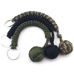 Image 4 - Puño de mono protectora de seguridad Multicolor para exteriores, rodamiento de bolas de acero, cordón de defensa personal, llavero de supervivencia, llavero de escalada