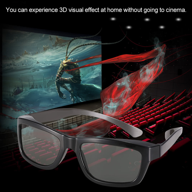 f0b0d9aa3c237 Passive 3D Glasses VR Virtual Reality Glasses Circular Polarized Lenses for  Polarized TV Real D Movies Cinemas Theaters