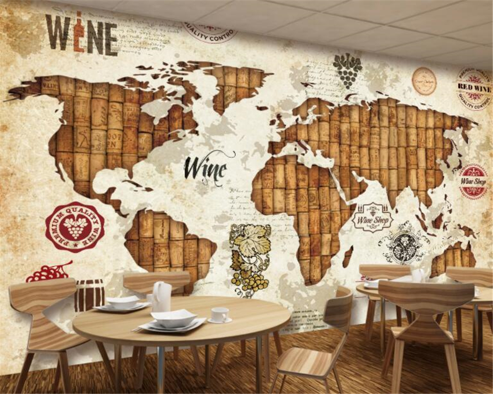 beibehang papel de parede wall paper Retro personality wallpaper ...