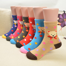 5 pairs/pack 100% Cotton Kids Socks Lot Cute Bear Unisex Baby Socks for Girls&boys Children Soft Winter Cute Cartoon Socks Set 5 pairs baby girls boys socks character print kids socks for girls clothing brand 100