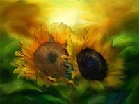 3D Diy Diamond Painting Abstract Oil Paint Sunflower Needlework Embroidery Resinstone Diamond Cross Stitch Mosaic Decoration