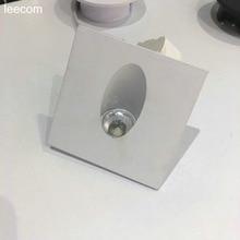 1pcs/lot LED Mini Cabinet Downlight 1W diameter 80mm 230v white Frame Recessed Ceiling No Flicker Spot Lights For Home