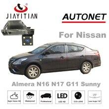 Câmera de Visão Traseira Para Nissan sunny Almera N16 N17 JIAYITIAN G11/4 lEDS HD CCD/Night Vision/Câmera de segurança/Câmara de Estacionamento