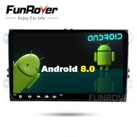 Funrover 2 Дин Dvd Gps Мультимедиа для Skoda octavia Android плеер для Volkswagen Vw Golf 5 6 поло Passat tiguan wifi usb FM