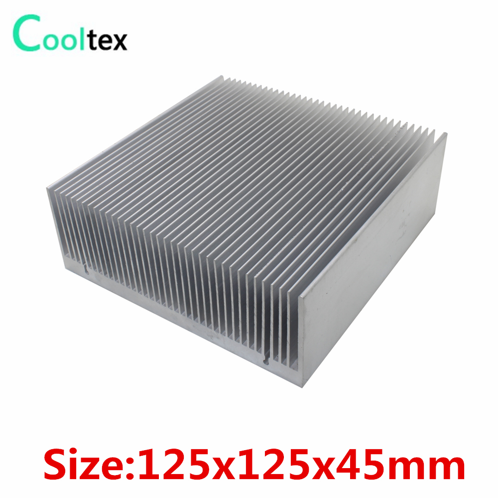 High power 125x125x45mm Aluminum HeatSink Heat Sink radiator for electronic Chip LED COOLER cooling Recommended au750 rose gold ring lady d ring size 6