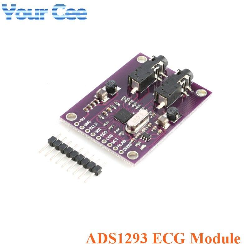 Módulo de electrocardiograma Digital ADS1293 (ECG) Medición de señal fisiológica 3 canales 24 bits extremo frontal analógico Módulo SFP RJ45 interruptor gbic 10/100/1000 conector SFP cobre módulo RJ45 SFP puerto Gigabit Ethernet