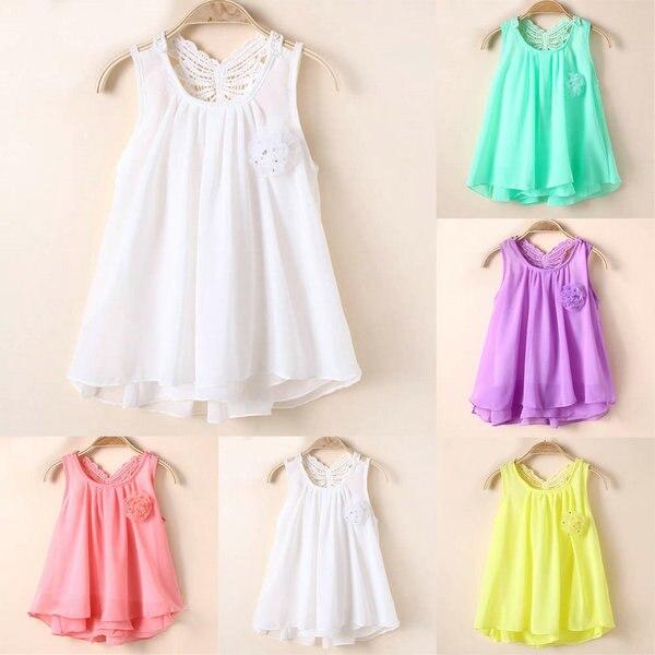 Детские летние платья из шифоны