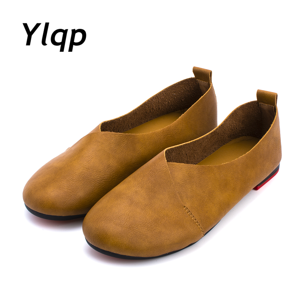 Spring Women Genuine Leather Flat Gommino Moccasin Loafers Casual slippers Cow Driving Fashion Ballet Shoes size 35-43 cow leather women s loafers casual women flat shoes hollow out moccasin driving shoes indoor flat slip on slippers sdt02