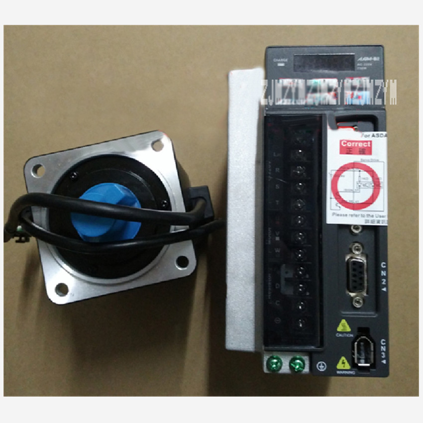 New Arrival 220V 750W 2.39NM 3000RPM 80mm AC Servo Motor Drive Kits ECMA-C20807SS+ASD-B2-0721-B Oil Seal Brake With 3M Cable цена