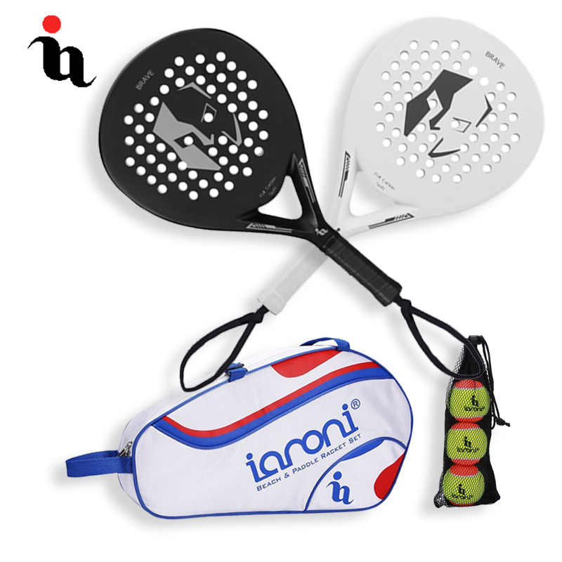 IANONI Cricket Bat Men Three Cricket Ball Cricket Bag Three Set Full Carbon Fiber Padel Raqueta Sport Professional Paddle Tennis