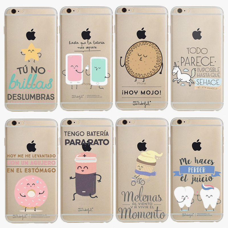 6811b55b405 Mr Wonderful Fundas For Iphone 7 Plus Case Luxury Silicon Soft Tpu Phone  Cover Series Cartoon Cases For Iphone 6 6s Plus Shell