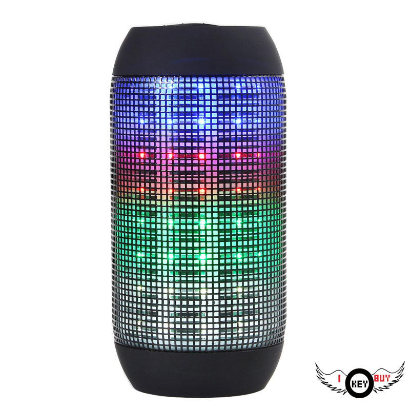 1PC High Quality Cylindrical Sound LED Lantern Bluetooth Speaker Wireless Radio Car Computer USB Power Black Speakers image