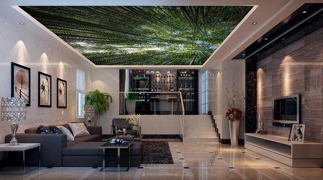Behang Plafond Badkamer : Paarden wallpapers natuurlijke bos plafond behang voor badkamer