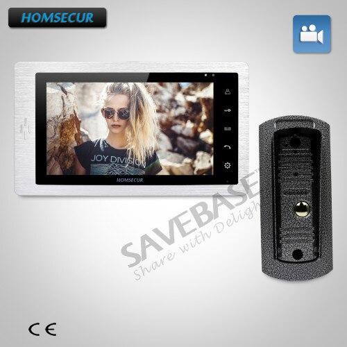 HOMSECUR 1v1 Kit 7 Video Telefono Del Portello Del Citofono + Dual-way Citofono per Sicurezza DomesticaHOMSECUR 1v1 Kit 7 Video Telefono Del Portello Del Citofono + Dual-way Citofono per Sicurezza Domestica