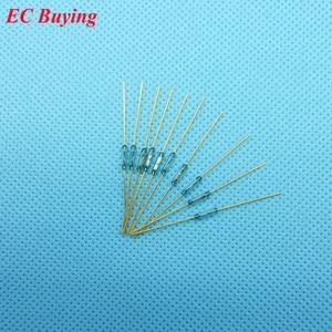 Image 2 - 100 pcs Reed 1.8*7mm Interruttore di Controllo Magnetico di Vetro Verde Reed Vetro Contatto Normalmente Aperto Per sensori di NO