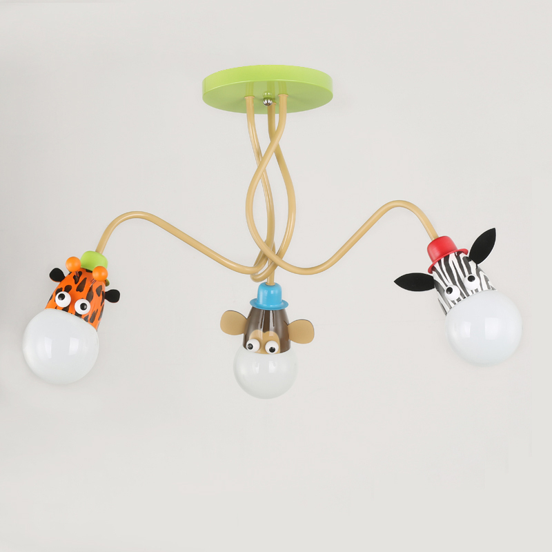 Childrens Novelty Light Fittings : Children Novelty Lovely Pendant Light AC 110 240V Kids Bedroom Cartoon Animal Giraffe/Monkey ...