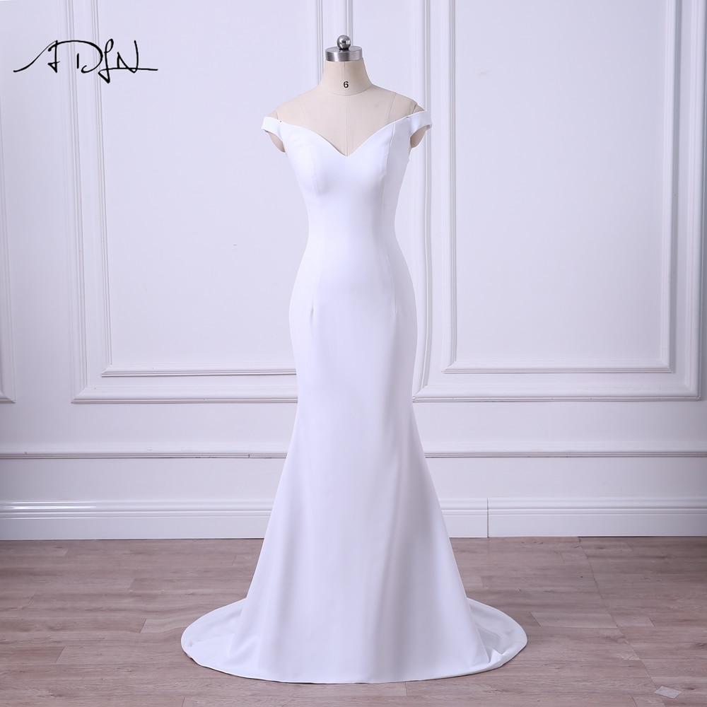 Simple Wedding Dress Europe: ADLN 2019 Simple Wedding Dresses Off Shoulder White/Ivory