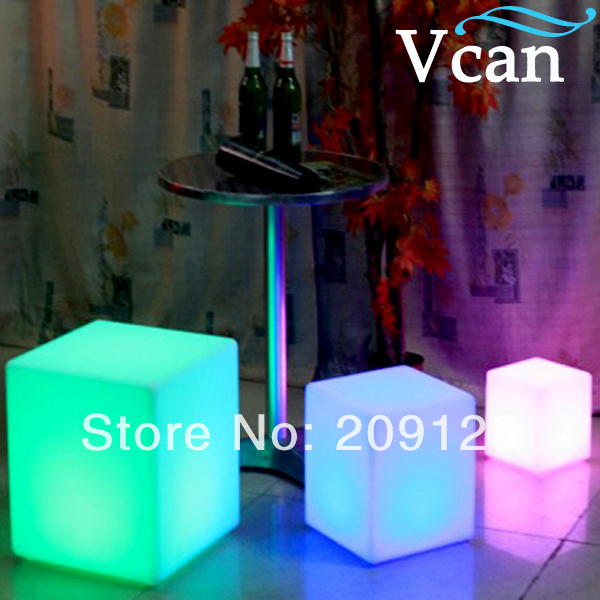 100% Waterproof Led Cube 20cm 30cm 40cm Vc-a300 Garden Chairs