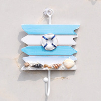The Mediterranean Sea four square wooden decorations Home Furnishing a single hook hook CM04 wall hangings