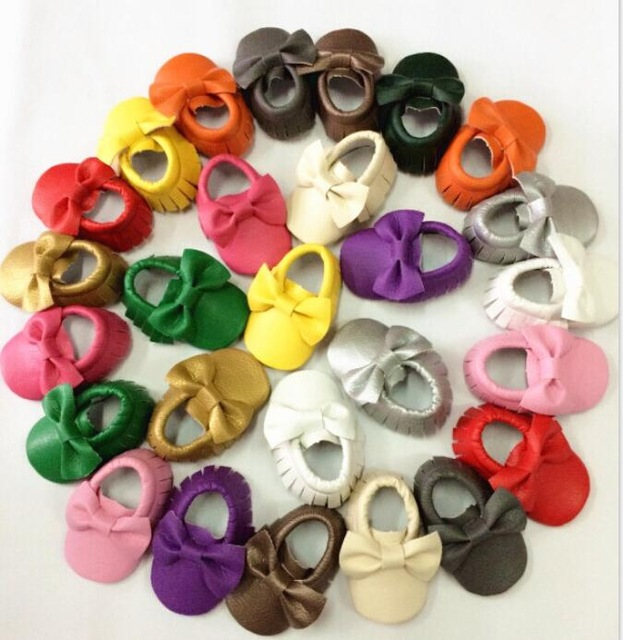 Clear stock various styles baby shoes soft sole pu leather toddler firstwalkers crib bebe moccasins randomly sent