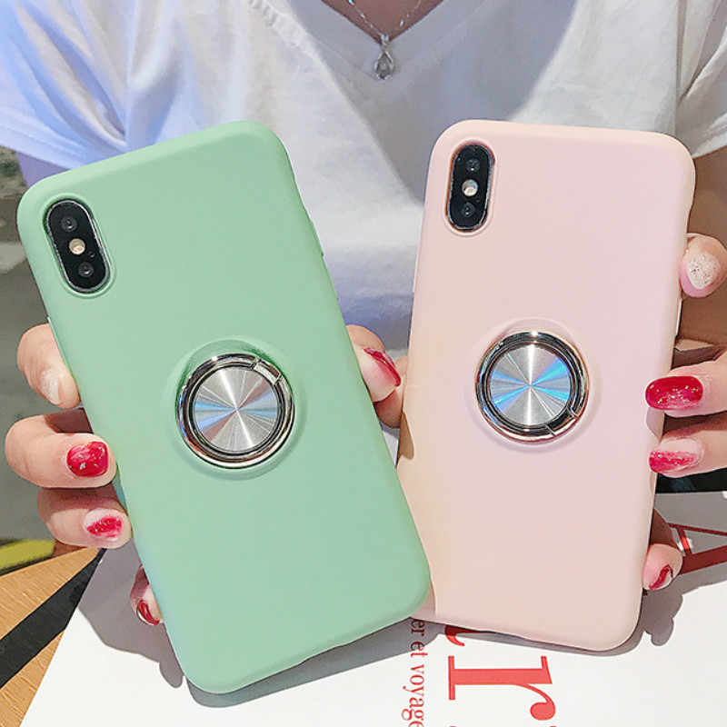 Case For Huawei P20 P30 Honor 7A 7C 10 Mate 10 20 Lite Plus P Smart 2019 Y7 Y6 Prime 2018 Nova 3e Holder Magnetic Bracket Cover