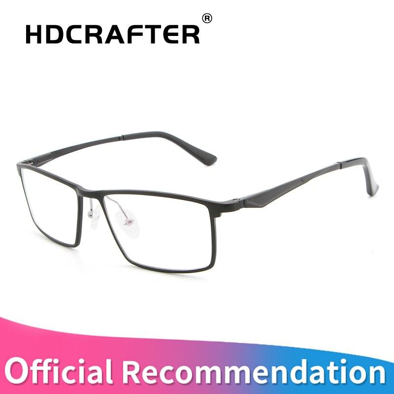 HDCRAFTER aluminum magnesium glasses Frame men women classic optical glasses frame prescription glasses women frames