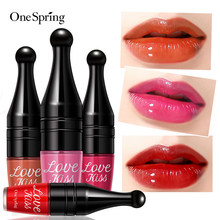 Onespring 6 Warna Air Cushion Lip Gloss Tahan Air Tahan Lama Matte Lipstik Warna Merah Seksi Tongkat Bibir Pelembab Makeup(China)