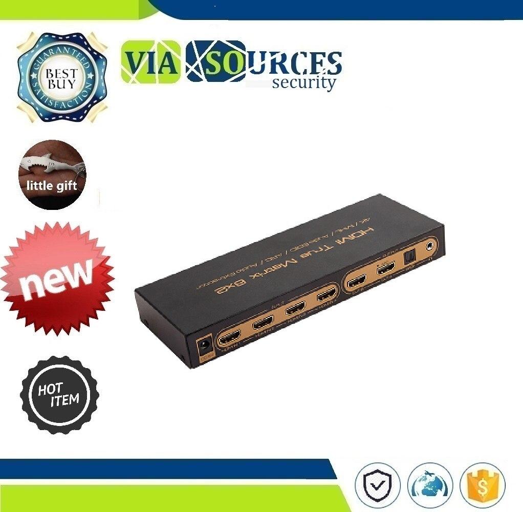 5.1CH switch splitter 6 input 2 output converter for HDTV 06M1 6x2 HDMI Matrix PIP 1.4V 4K*2K 3D Audio EDID/ARC/Audio Extractor5.1CH switch splitter 6 input 2 output converter for HDTV 06M1 6x2 HDMI Matrix PIP 1.4V 4K*2K 3D Audio EDID/ARC/Audio Extractor