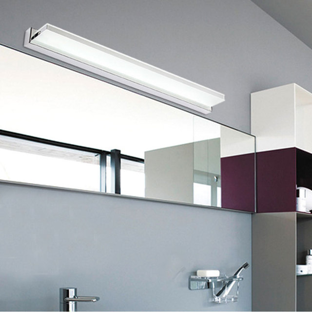 R 47362 Nova Novidade 12 W 72 Cm Super Long Lâmpadas Led Espelho Do Banheiro Tops Fixado Na Parede Do Armário De Luz Linear Bar Luzes Ac 110 V220