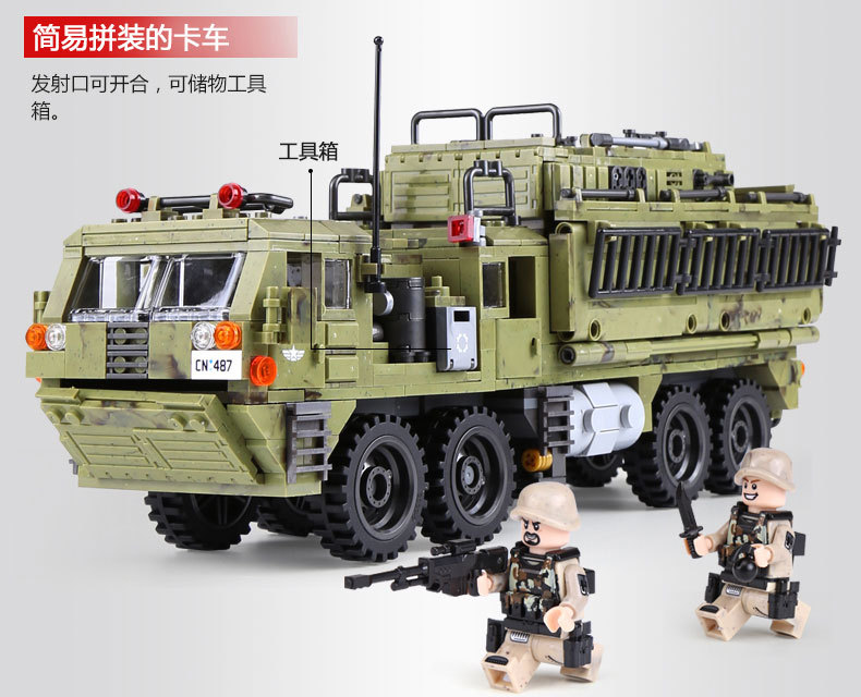 1377Pcs XINGBAO Building Blocks Toys легоe military 06014 Cross The Battlefield Series Bricks Truck Model Gift for Children 4PX 18